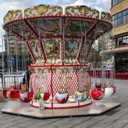 ubba Baroque Swing Ride with flying seats - snowball